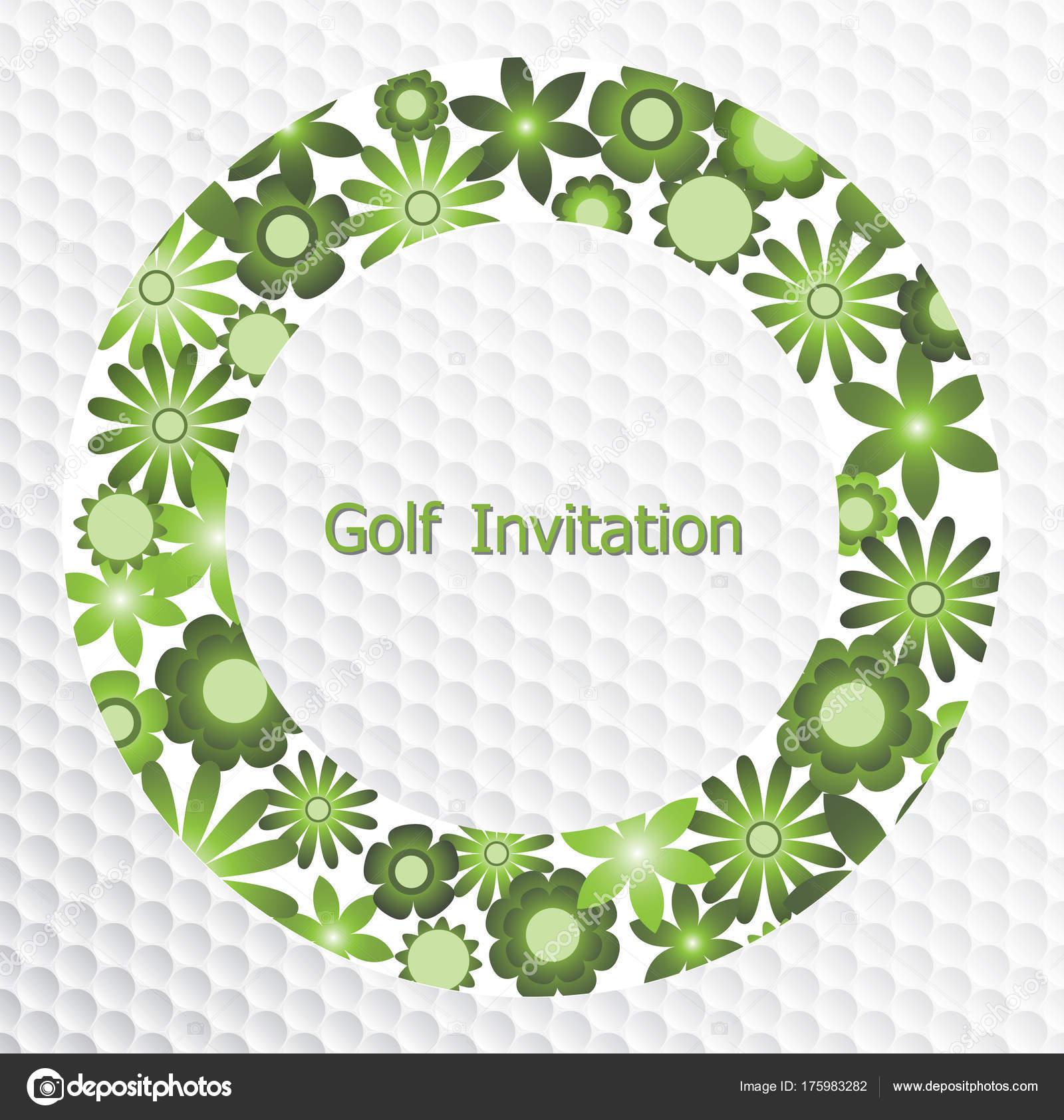 golf tournament invitation flyer template graphic design green