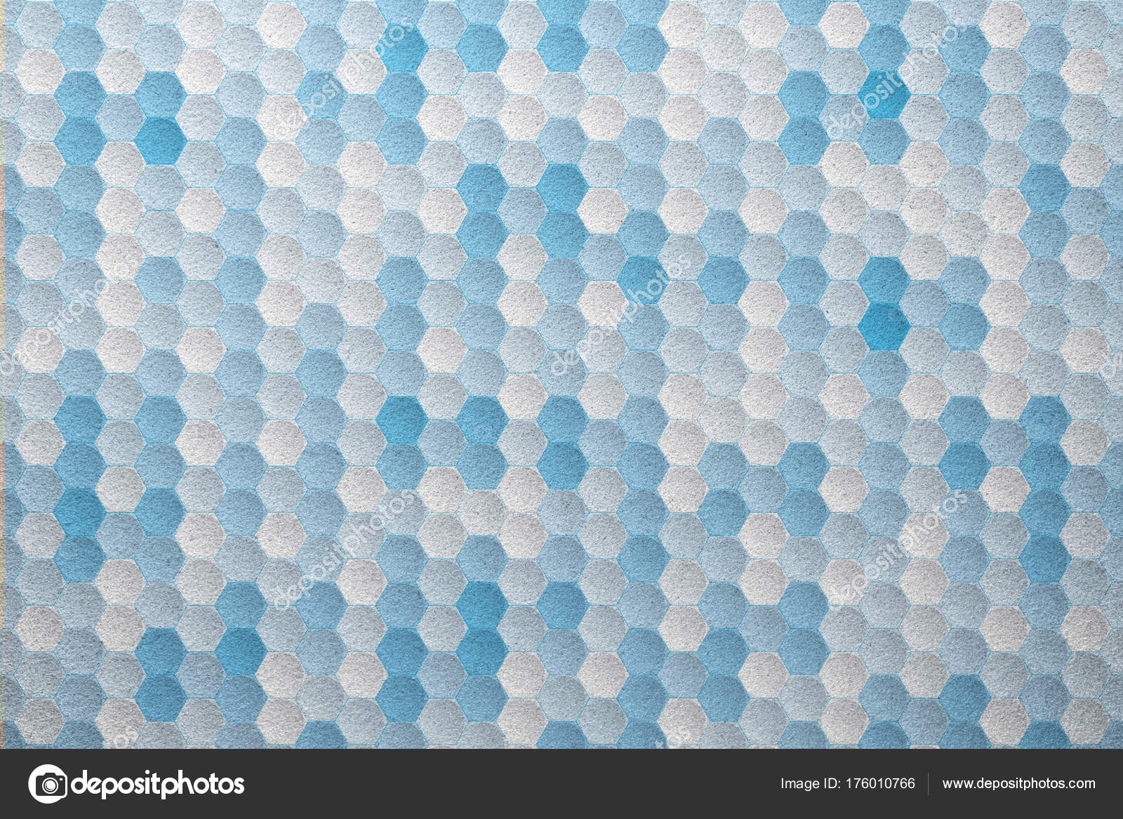 White Blue Hexagon Geometric Pattern Frosted Glass Texture