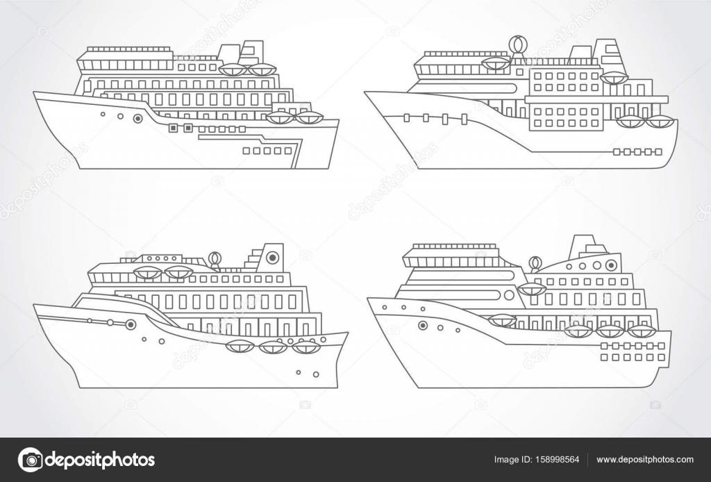 best templates kleurplaat cruiseschip