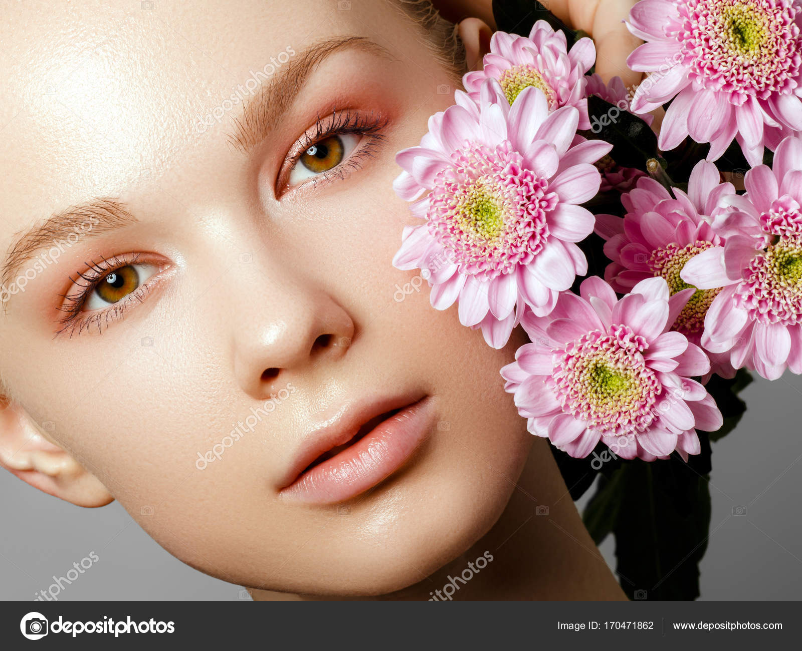 Aesthetic cosmetology spring woman beauty summer model girl with beauty summer model girl with colorful flowers beautiful lady with blooming flowers holiday fashion makeup photo by looking2thesky izmirmasajfo