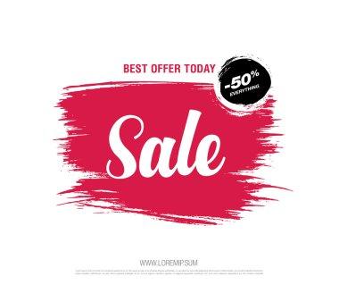 sale lettering banner