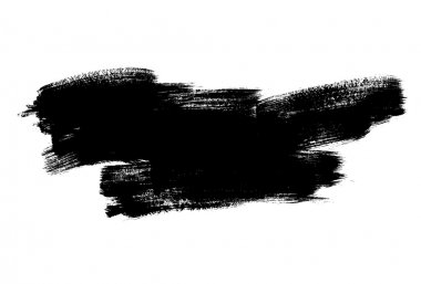 Vector illustration design of hand drawn black brush smear isolated on white background clip art vector
