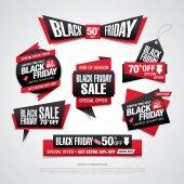 Fotografie Black friday sale labels set