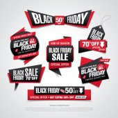 Fotografia venerdì nero vendita etichette insieme