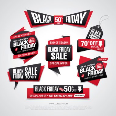 Black friday sale labels set