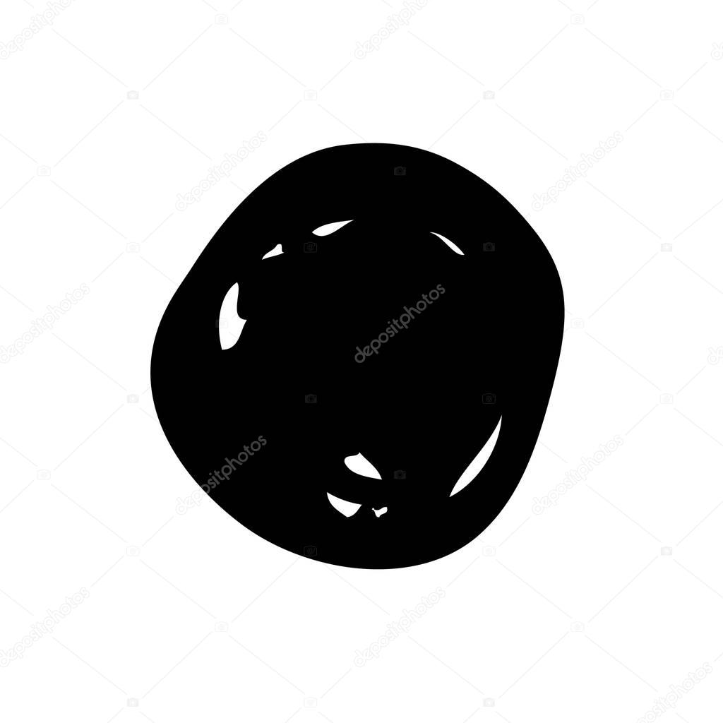 Circle Dot Brush Stroke Stock Vector Igorvkv 128956012