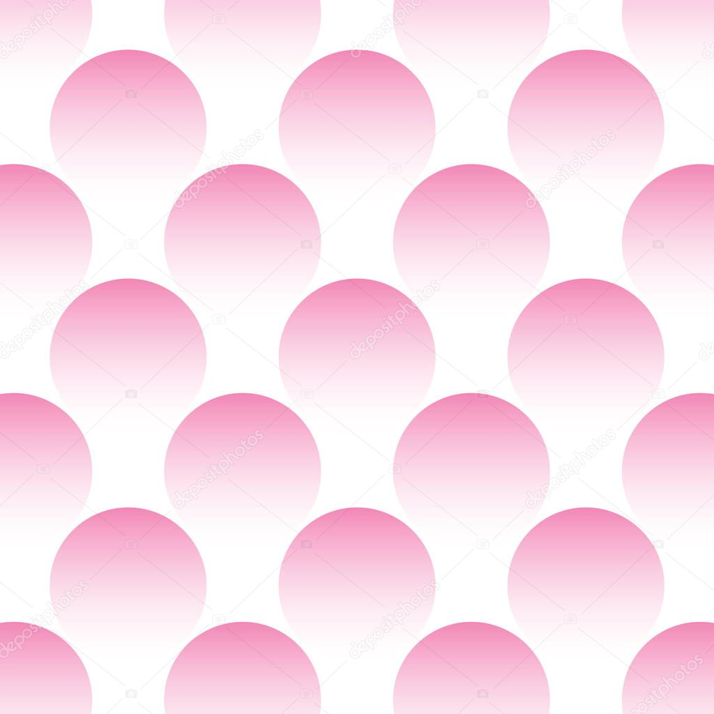 Texture of pink circles on a white