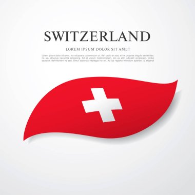 Flag of Switzerland with inscription