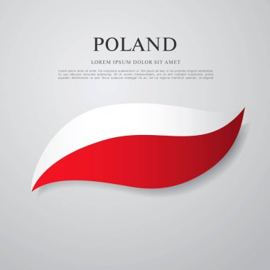 Flag of Poland with inscription