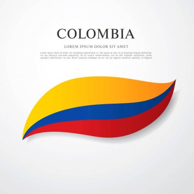 Flag of Colombia with inscription