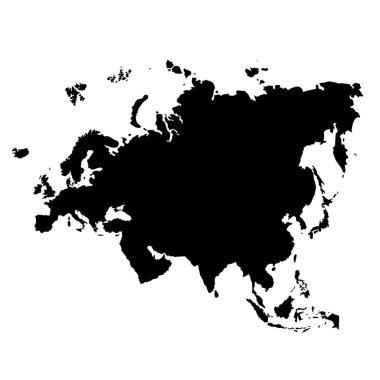 map of Eurasia isolated