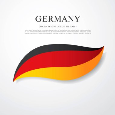 Flag of Germany with inscription