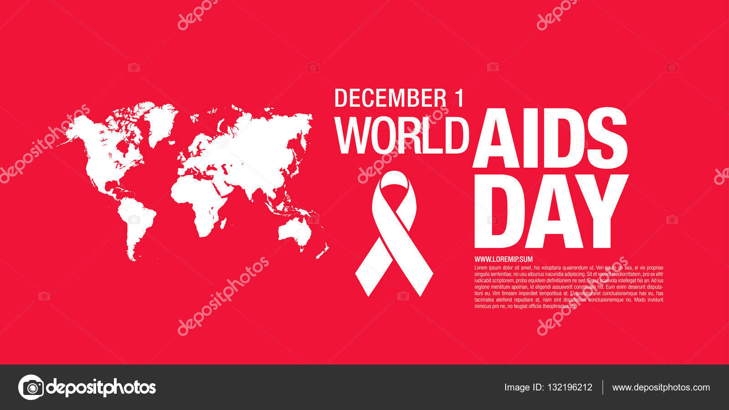 światowy Dzień Walki Z Aids Plakat Grafika Wektorowa