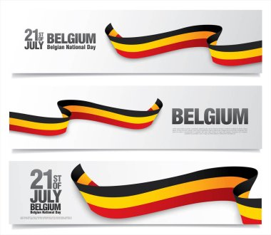 Belgium national day banners set