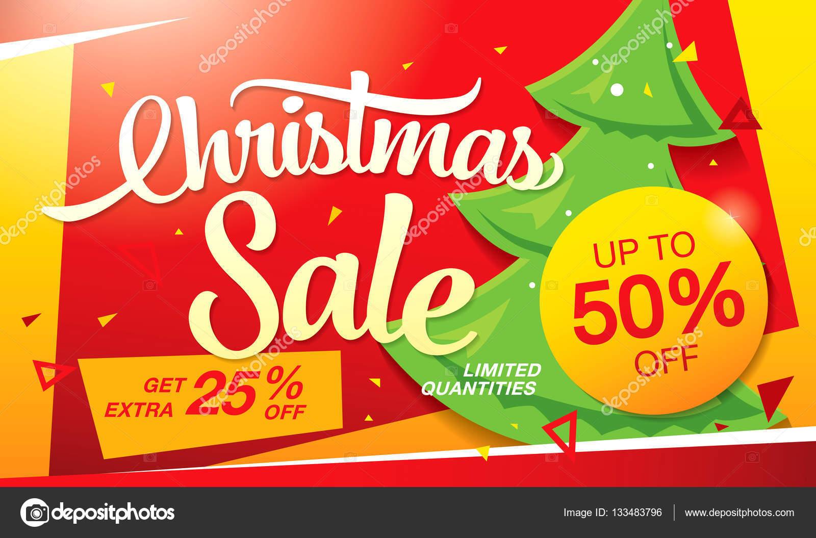 Weihnachten-Verkauf-banner — Stockvektor © Igor_Vkv #133483796