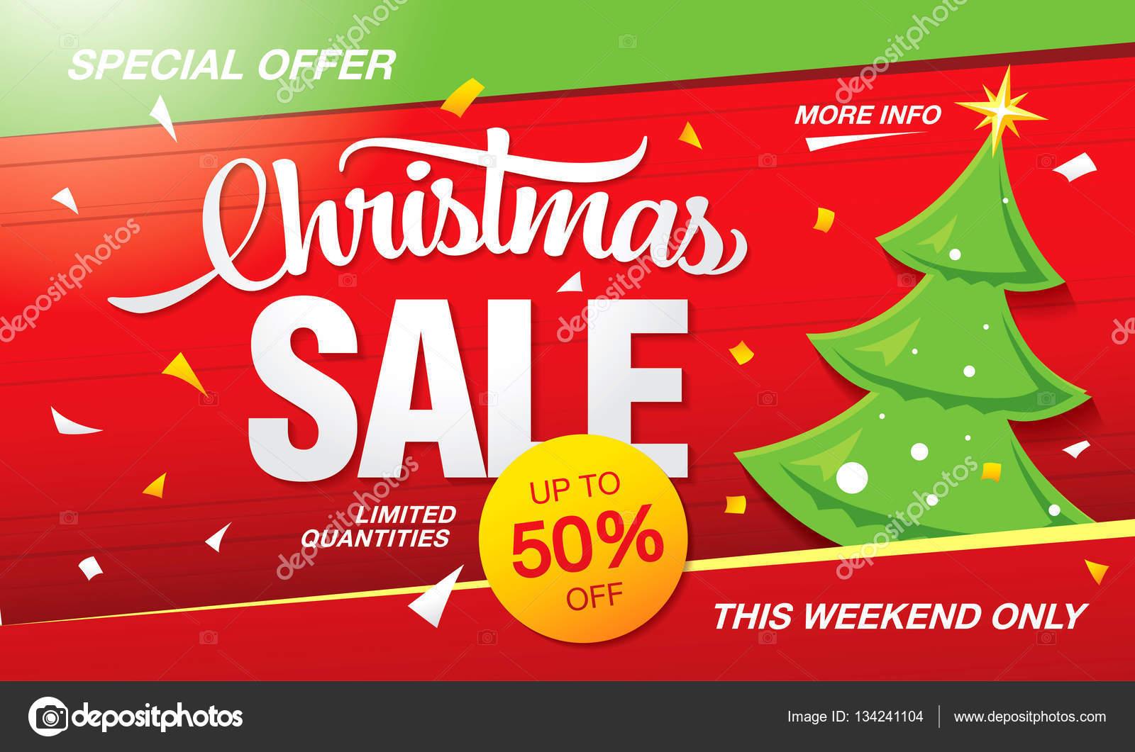 Weihnachten-Verkauf-banner — Stockvektor © Igor_Vkv #134241104