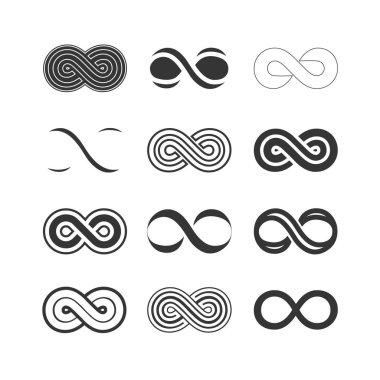 set of infinity symbols