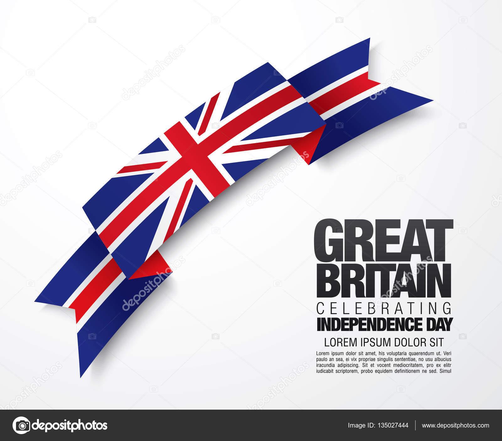 Flagge von Großbritannien Kartenvorlage — Stockvektor © Igor_Vkv ...