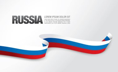Flag of Russia card template