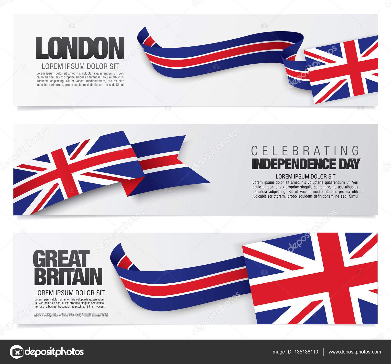 Großbritannien Flagge Vorlage — Stockvektor © Igor_Vkv #135138110