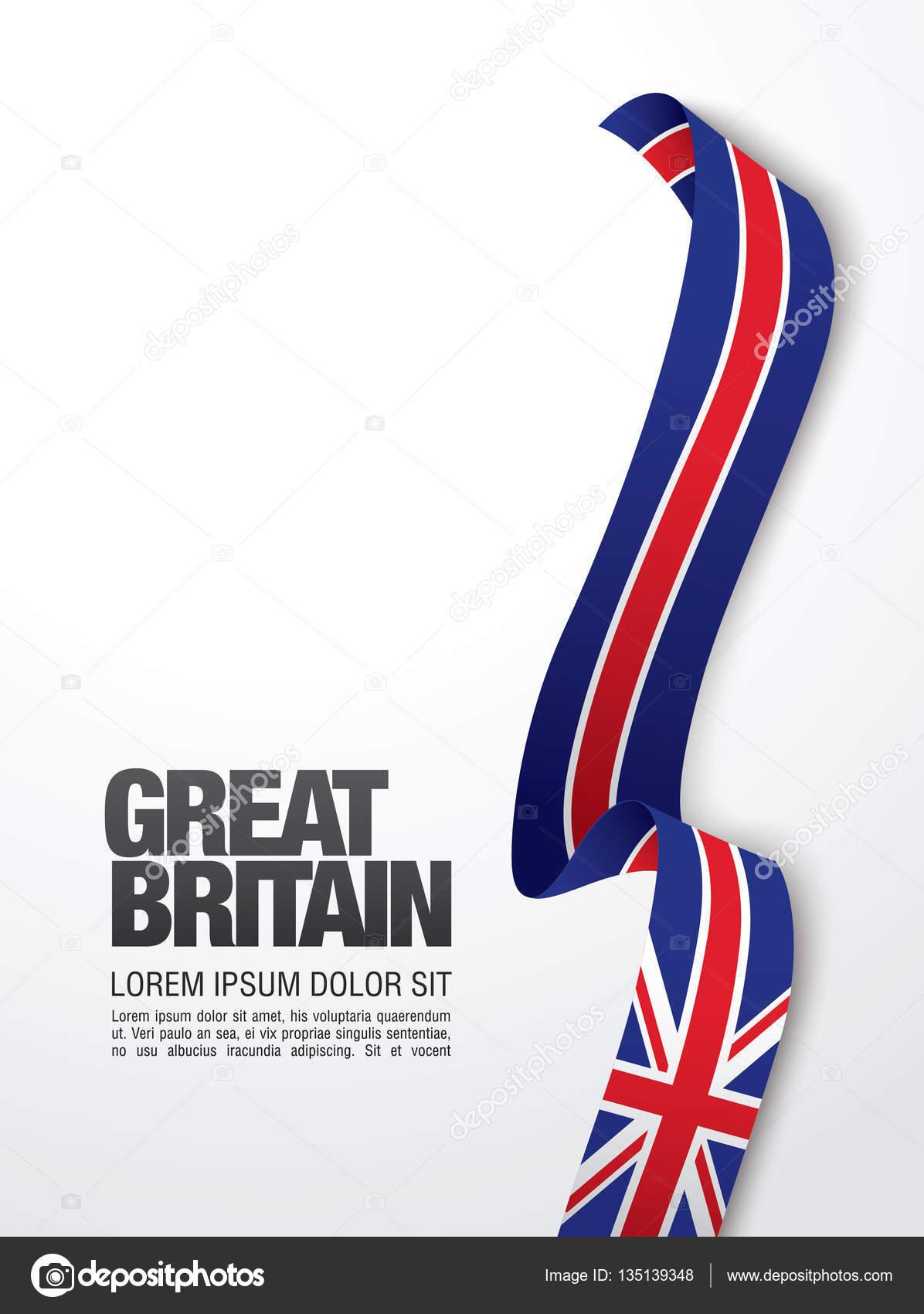 Großbritannien Flagge Vorlage — Stockvektor © Igor_Vkv #135139348