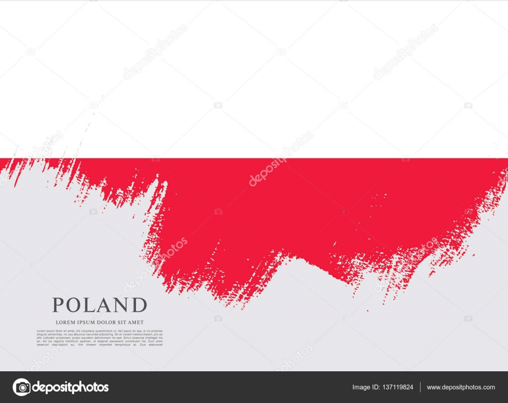 flag of poland background u2014 stock vector igor vkv 137119824