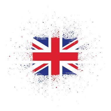 British flag made in brush stroke