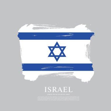 Flag of Israel  background