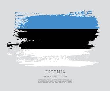 Estonia  flag  background
