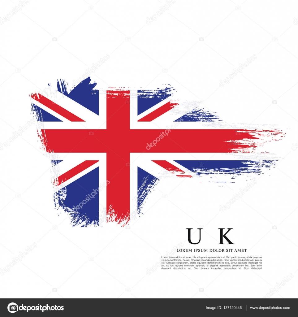 British flag made in brush stroke — Stock Vector © Igor ...
