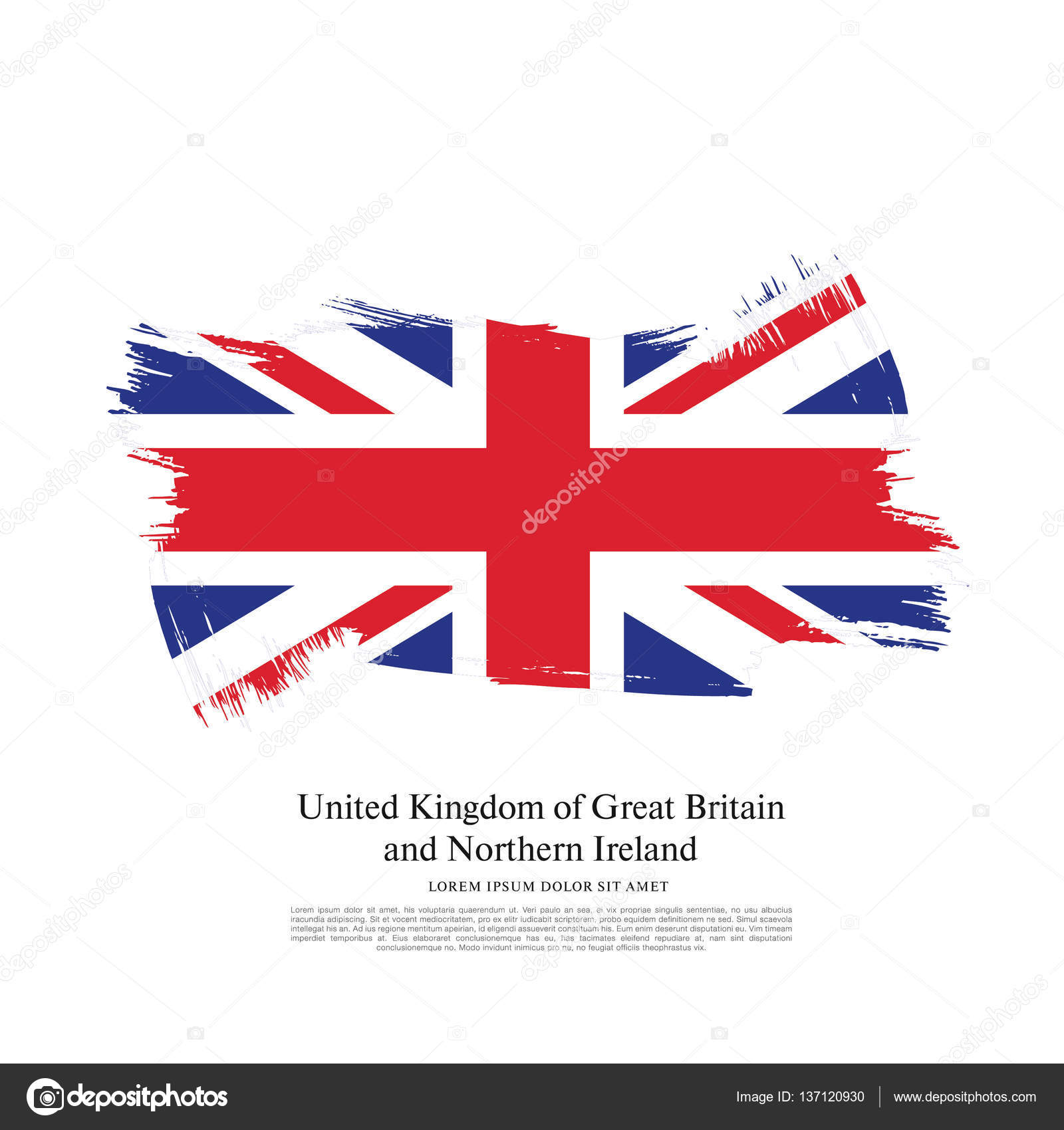 british flag made in brush stroke u2014 stock vector igor vkv 137120930