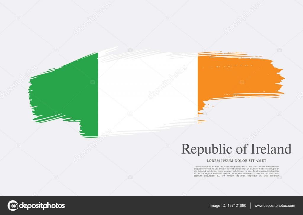 flag of ireland background u2014 stock vector igor vkv 137121090