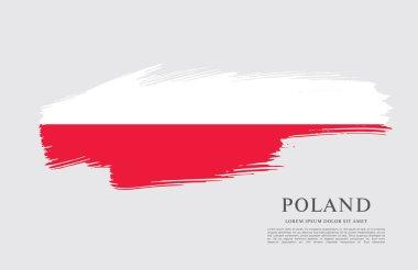 Flag of Poland  background