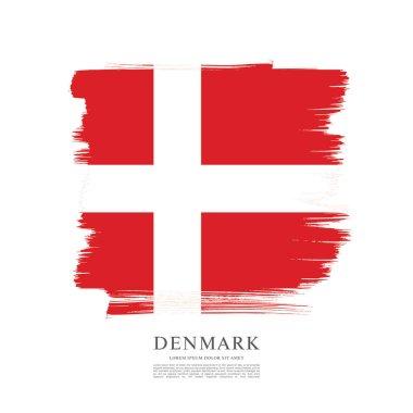 Flag of Denmark  background