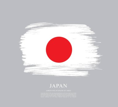 Flag of Japan  background