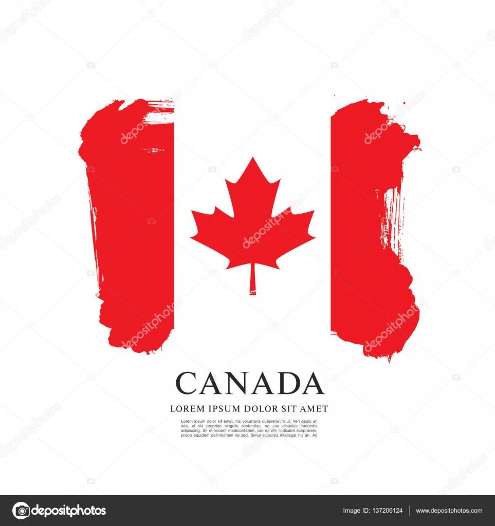Fondo de bandera canadiense — Vector de stock © Igor_Vkv #137206124