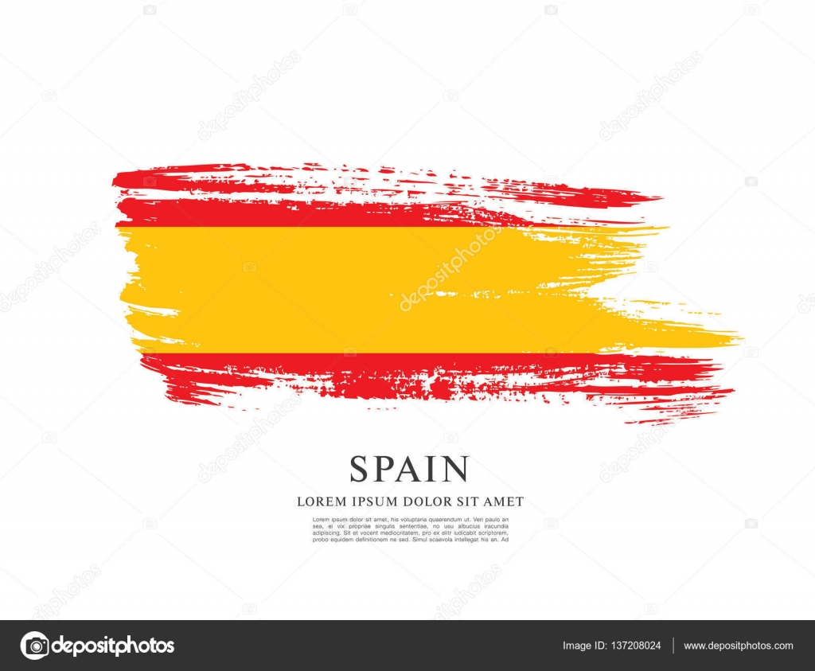 spanish flag background u2014 stock vector igor vkv 137208024