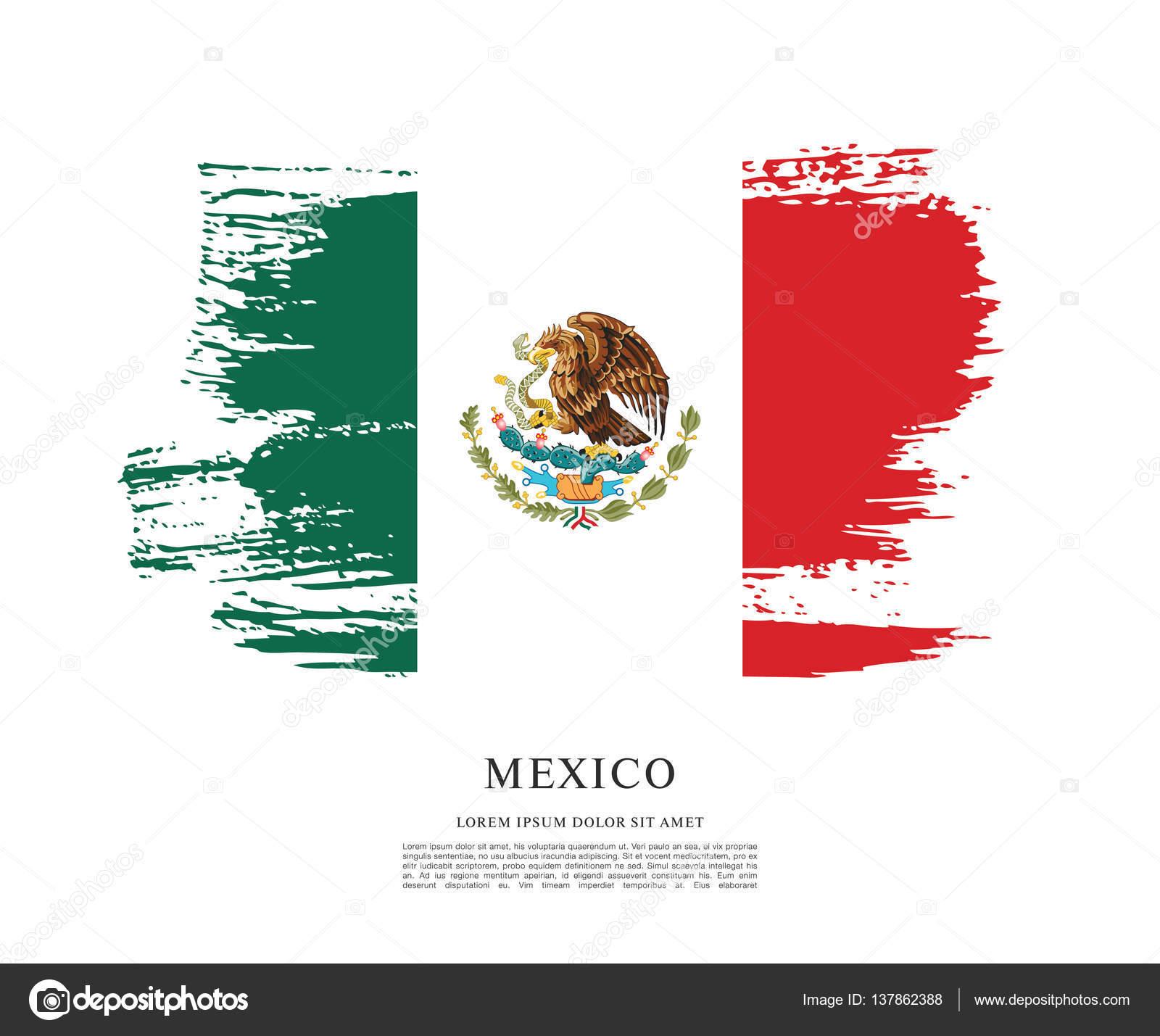 mexican flag banner template stock vector igor vkv 137862388