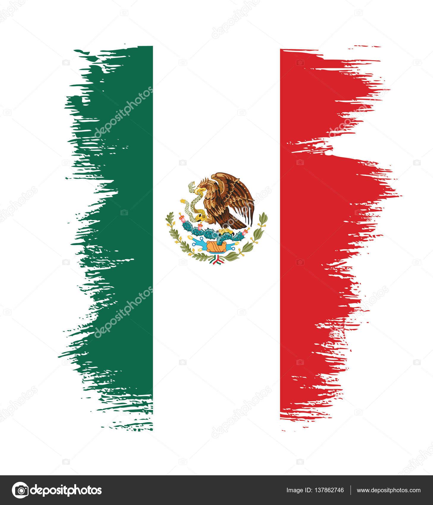 mexican flag banner template stock vector igor vkv 137862746