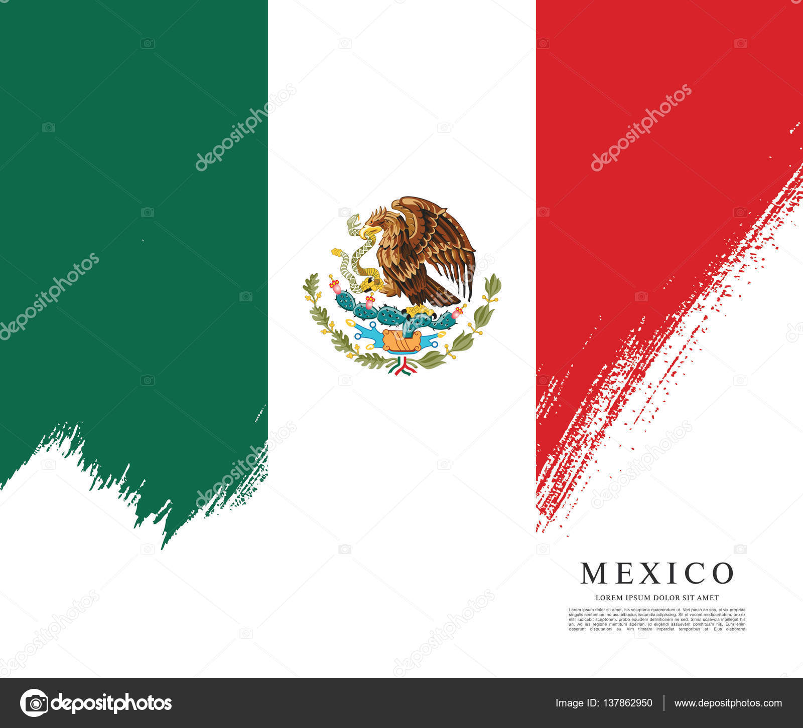 mexican flag banner template u2014 stock vector igor vkv 137862950