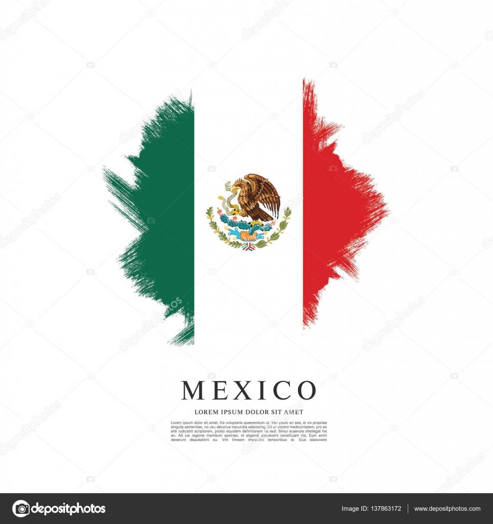 mexican flag banner template stock vector igor vkv 137863172