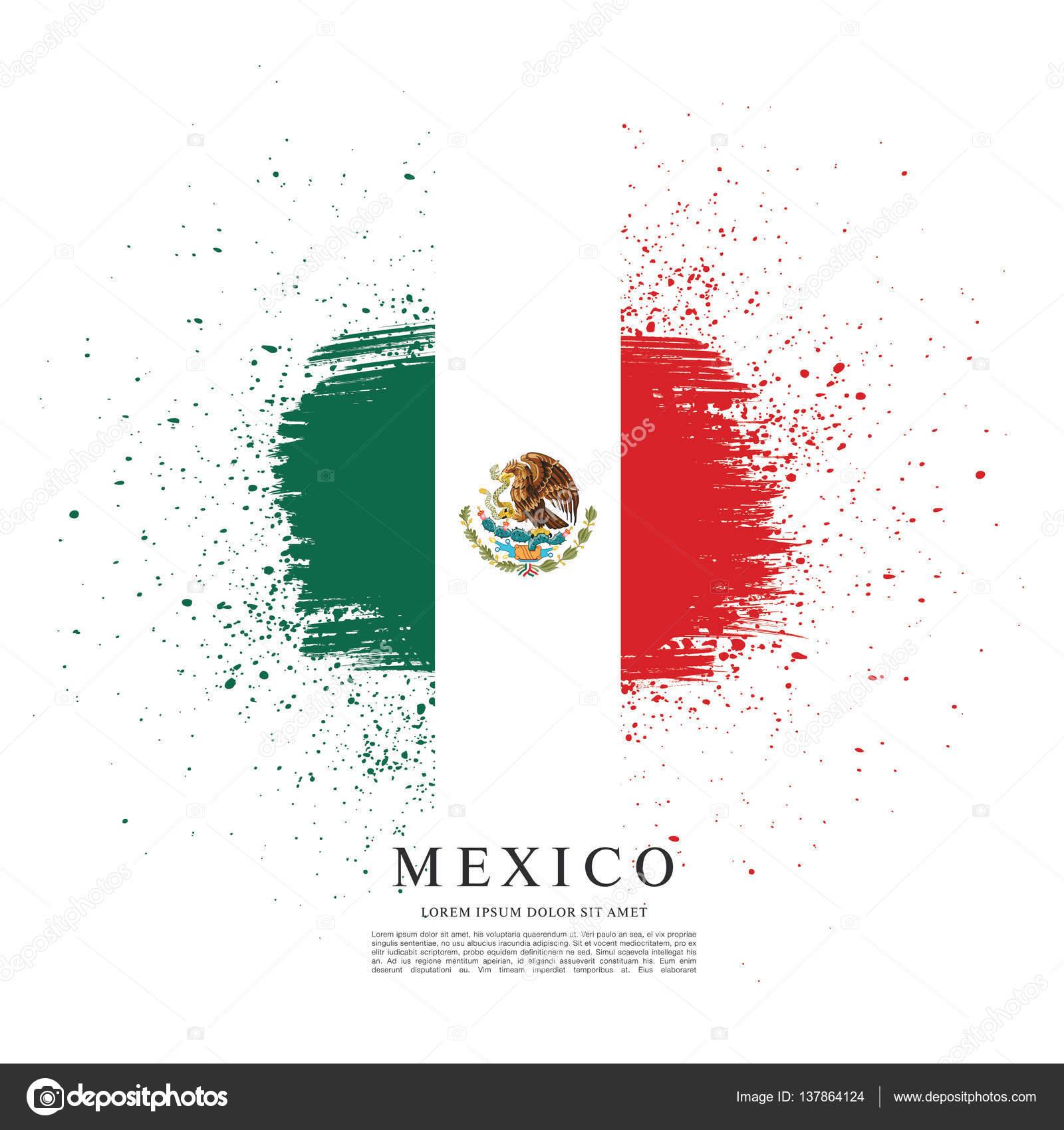 mexican flag banner template stock vector igor vkv 137864124