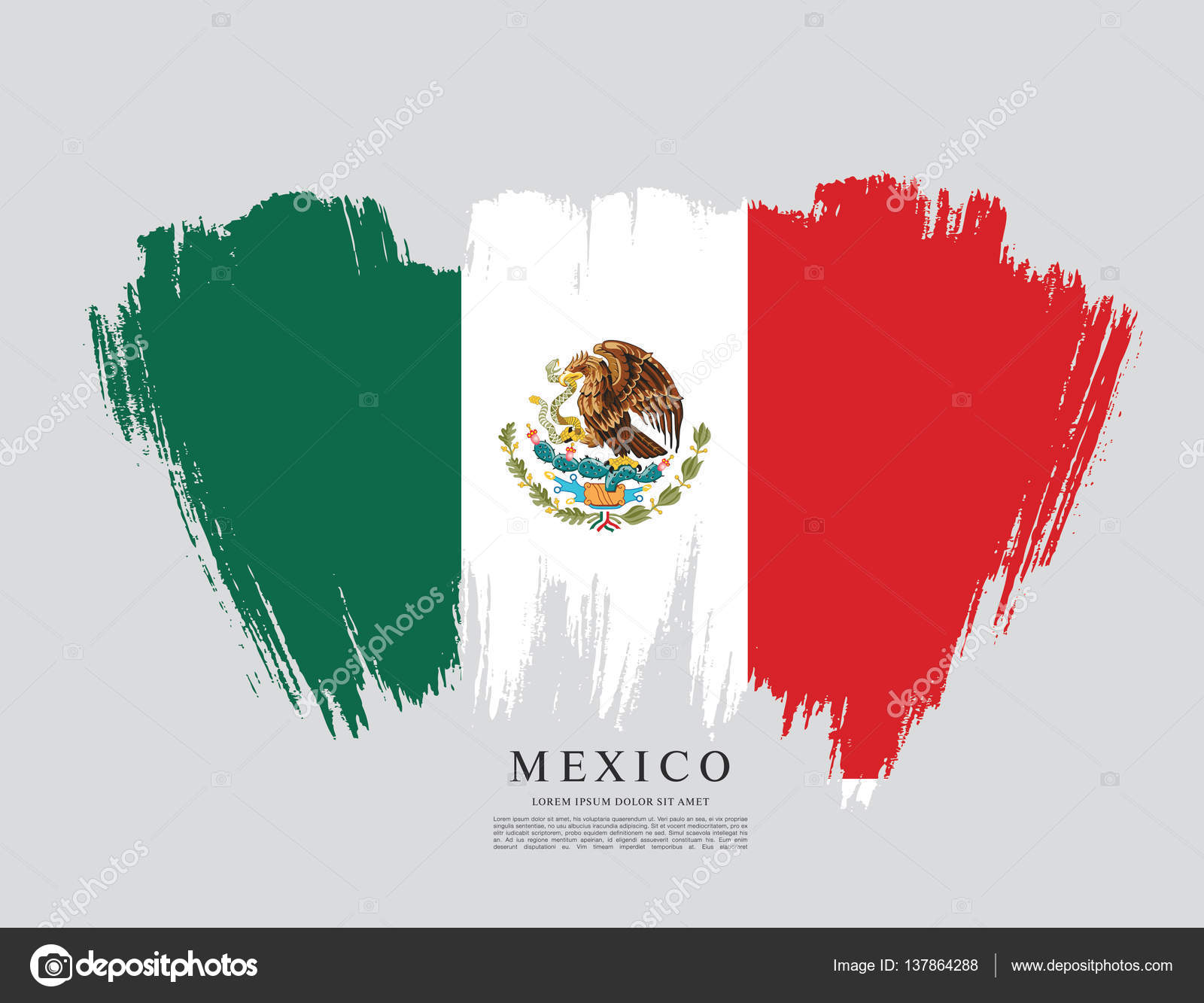 mexican flag banner template stock vector igor vkv 137864288 rh depositphotos com mexico flag icon vector mexican flag vector