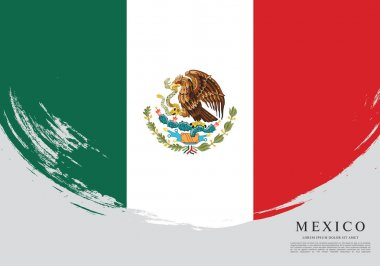 Mexican flag banner template