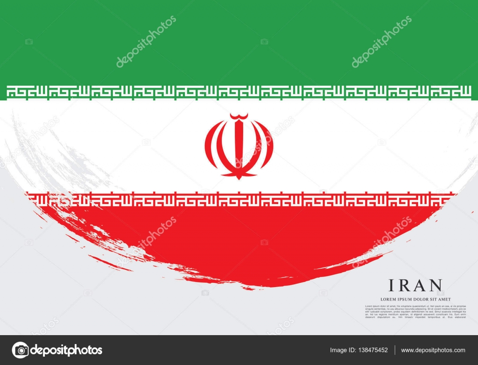 Iran Flag Banner Stock Vector Igorvkv 138475452