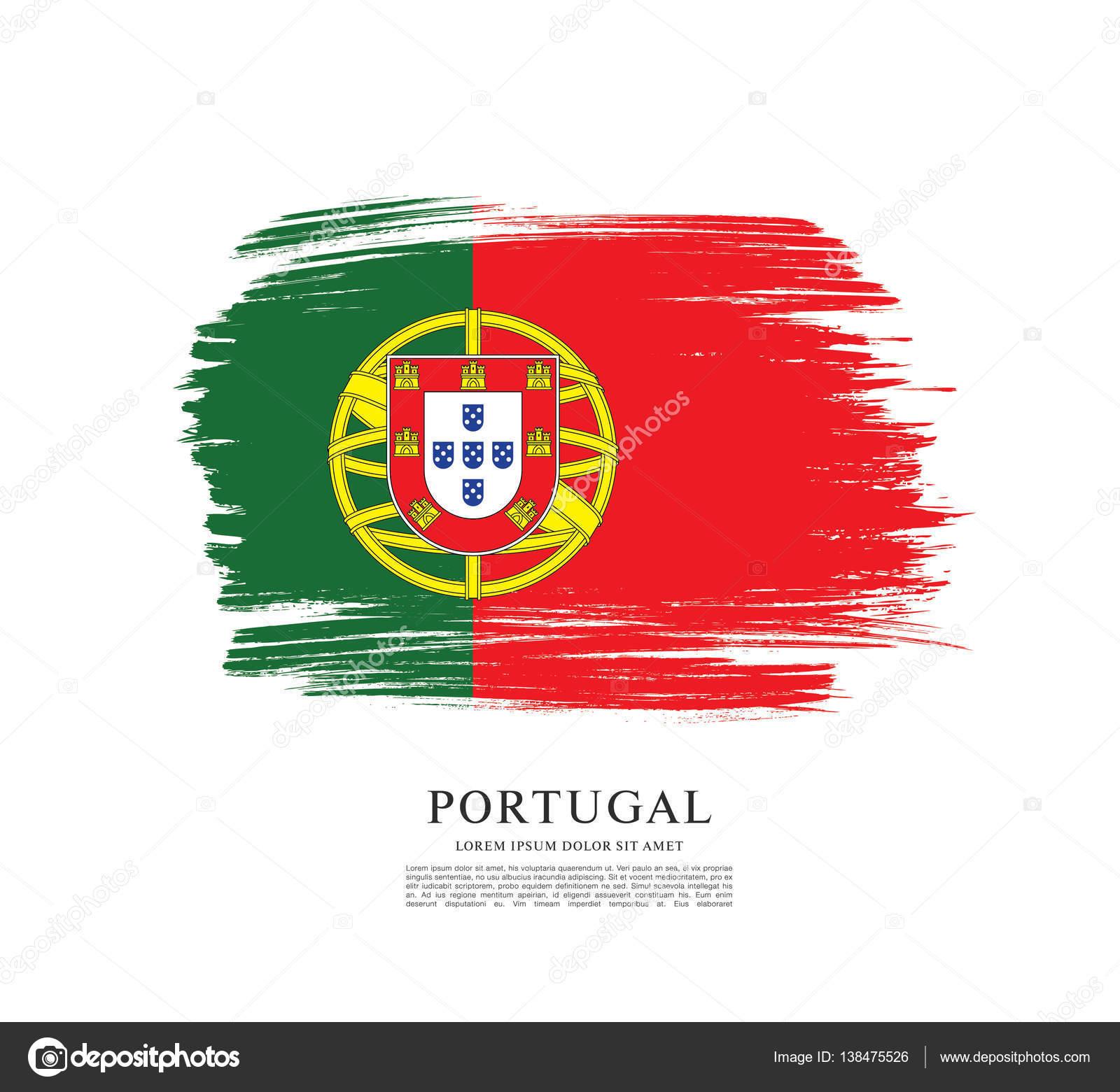 Plantilla de la bandera bandera de Portugal — Archivo Imágenes ...