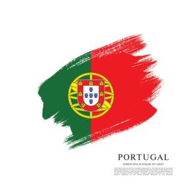 Portugal flag banner template