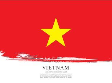 Flag of Vietnam banner template