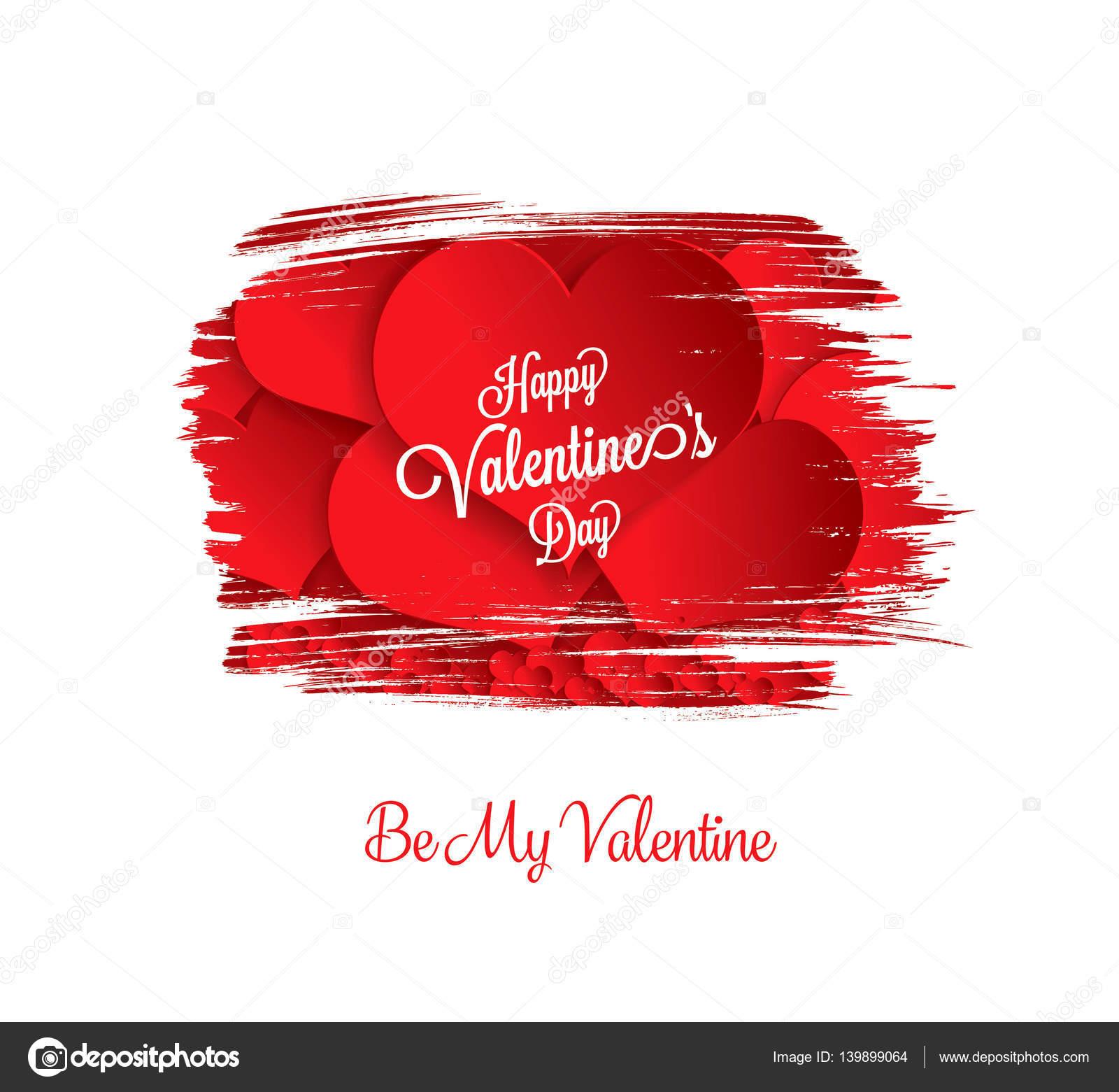 Valentines Greeting Card Stock Vector Igorvkv 139899064