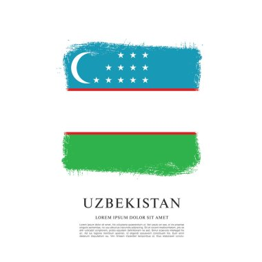 Flag of uzbekistan banner